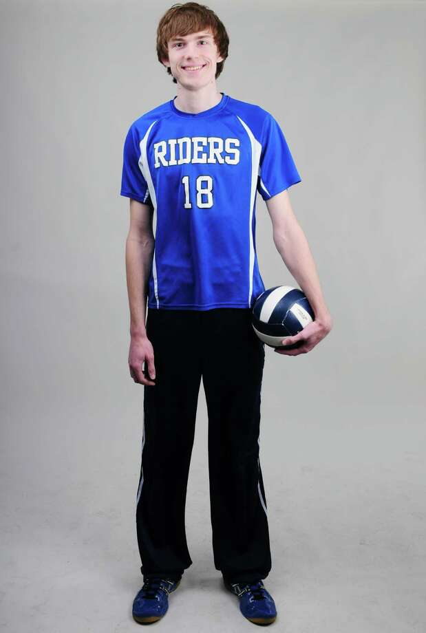 Ichabod Crane boys' volleyball senior Alex Potts is the Times Union's volleyball MVP, Tuesday, April 2, 2013, in Colonie, N.Y.  (Will Waldron/Times Union) Photo: Will Waldron