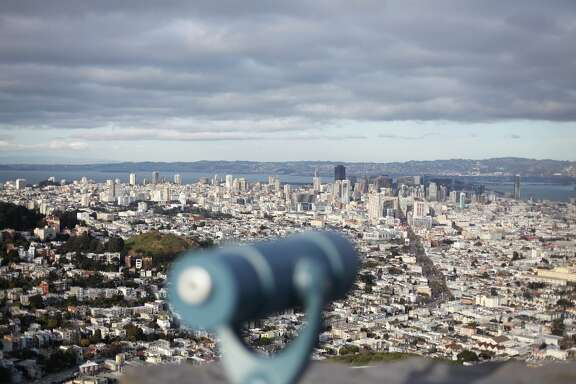 A coin-operated telescope is seen at Twin Peaks on March 12, 2013 in San Francisco, Calif.