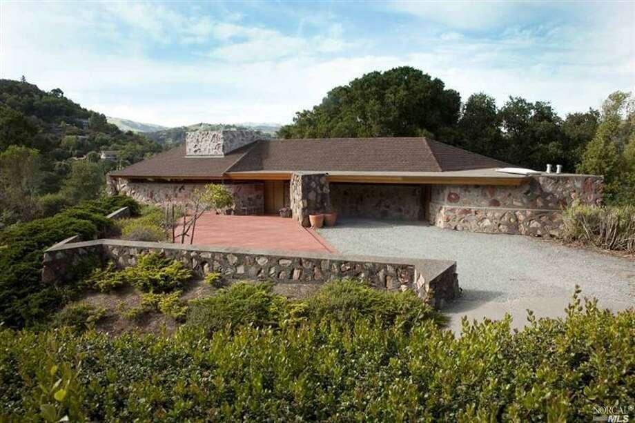 Designed by Frank Lloyd Wright for Marin teacher Robert Berger, who built the residence himself.