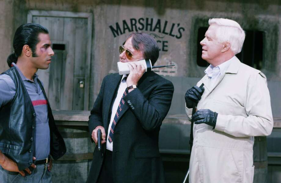 "Mobile phones were still a novelty when they appeared on ""The A-Team."" Most people probably hadn't seen one in real life. Photo: NBC, File / © NBC Universal, Inc."