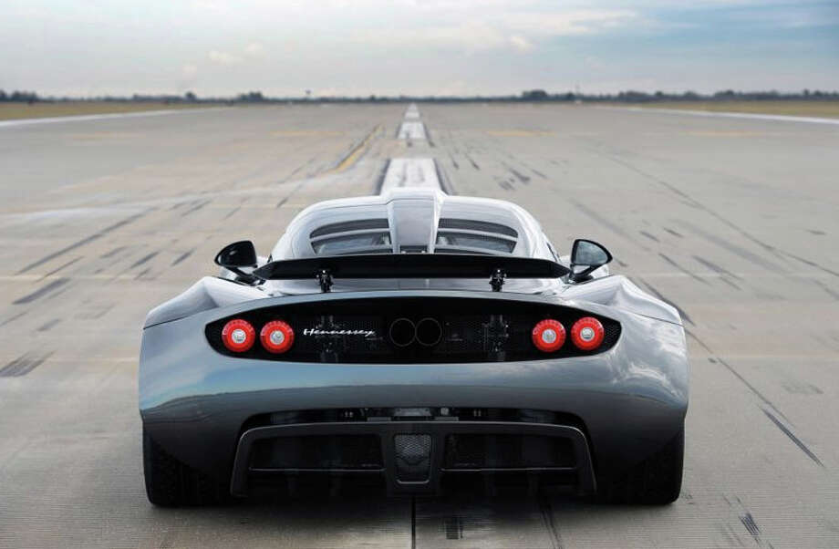 The Hennessey Venom GT is the fastest production car ever made. The sports car was clocked at 265.7 mph during a speed test in California. Photo: Hennessey