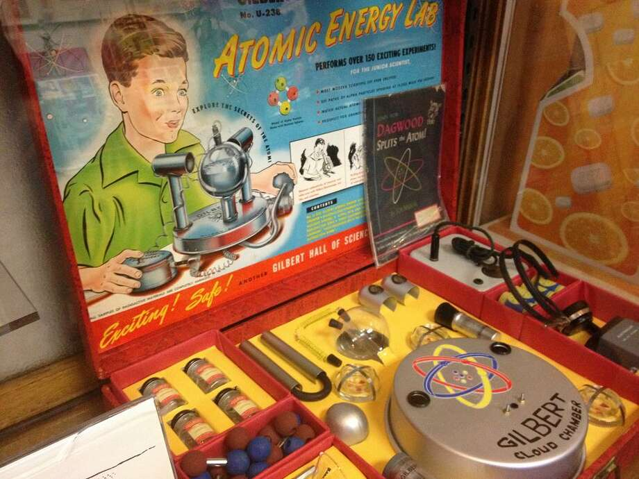 The Gilbert Atomic Energy Lab was only on the market for a year in the early '50s, given its high cost ($500 in today's dollars) and the fact that it included low-levels of radioactive materials. This is probably what Doc Brown was playing with before he invented the Flux Capacitor.