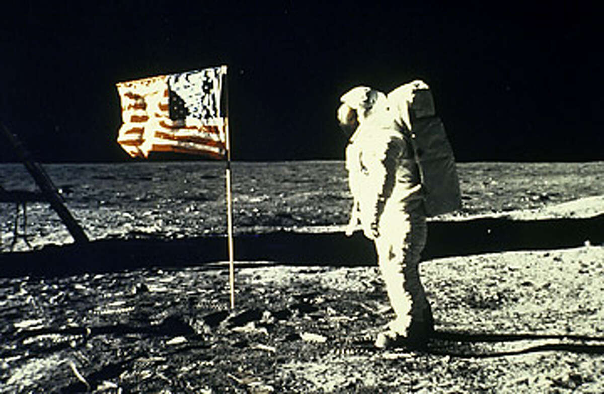 """Hoax No. 4: Stanley Kubrick helped fake the moon landings No, a video circulating online this year does not show the late, great director confessing to assisting NASA with faking the moon landings. In fact, the interview with the """"Kubrick"""" lookalike allegedly occurred in May 1999 - two months after the director died. (NASA photo)"""