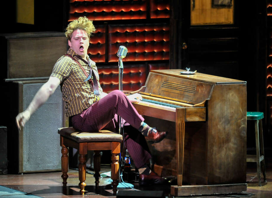 "Ben Goddard delivers Jerry Lee Lewis' showmanship during a performance of ""Million Dollar Quartet"" at the Majestic Theatre. Photo: Robin Jerstad / For The Express-News"