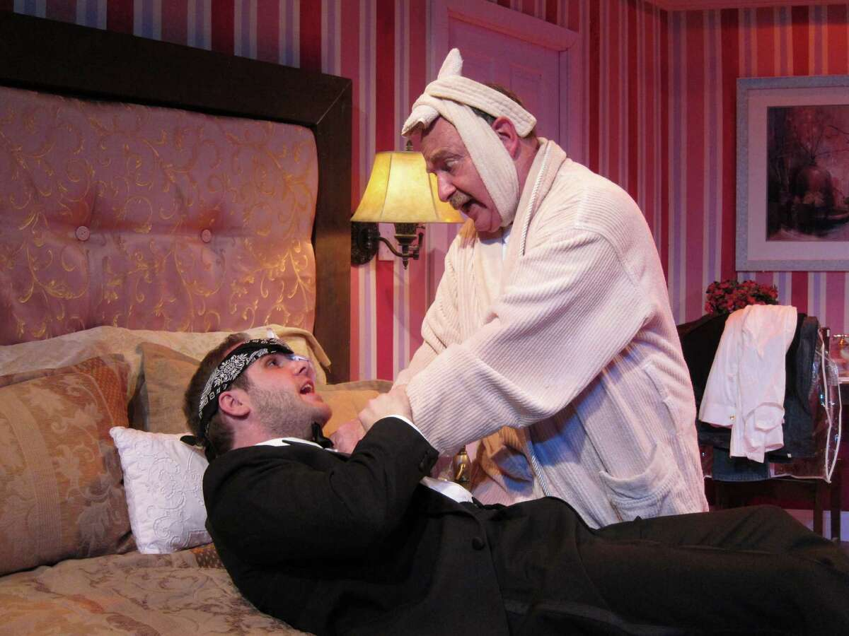 Our Son's Wedding at Curtain Call Theatre. (l-r) Pat Rooney, Gary Maggio Photo credit: Kevin Gardner