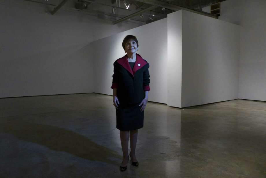 Maria Hernandez Ferrier, president of Texas A&M-San Antonio, stands in  A&M-San Antonio Educational Cultural Center in the former Museo Alameda. Photo: Billy Calzada / Express-News