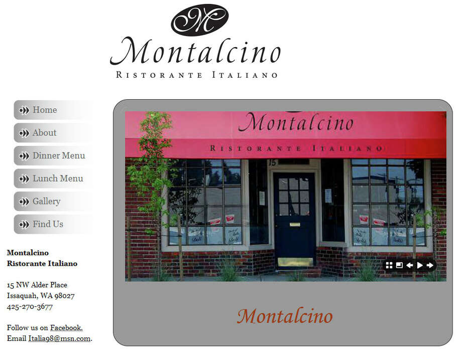 "Montalcino Ristorante Italiano promises ""A Truly Authentic Italian Experience"" in Issaquah. Photo: Montalcino Ristorante Italiano"