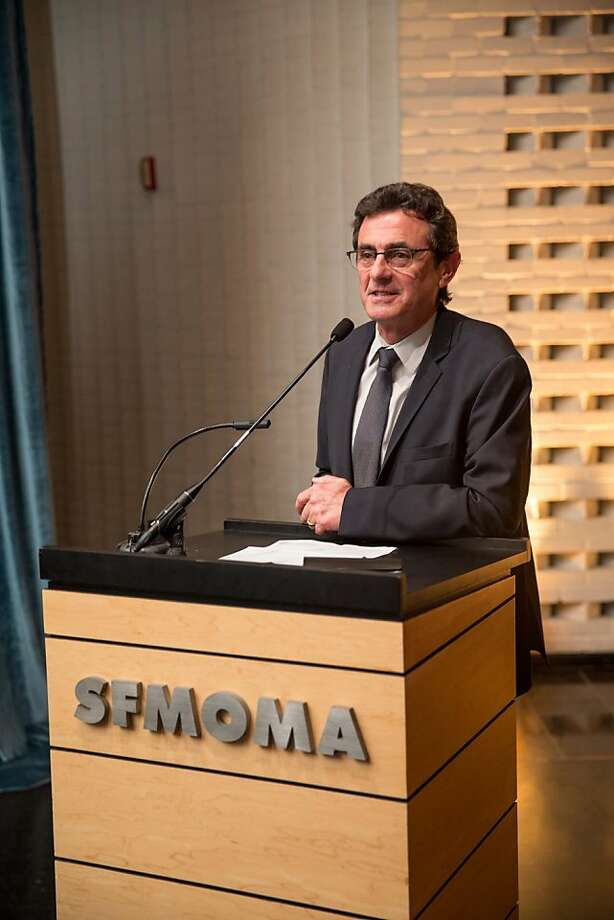 "Neal Benezra speaks during SFMOMA's presentation of artist Christian Marclay's ""The Clock"" on April 2, 2013. Photo: Drew Altizer Photography"