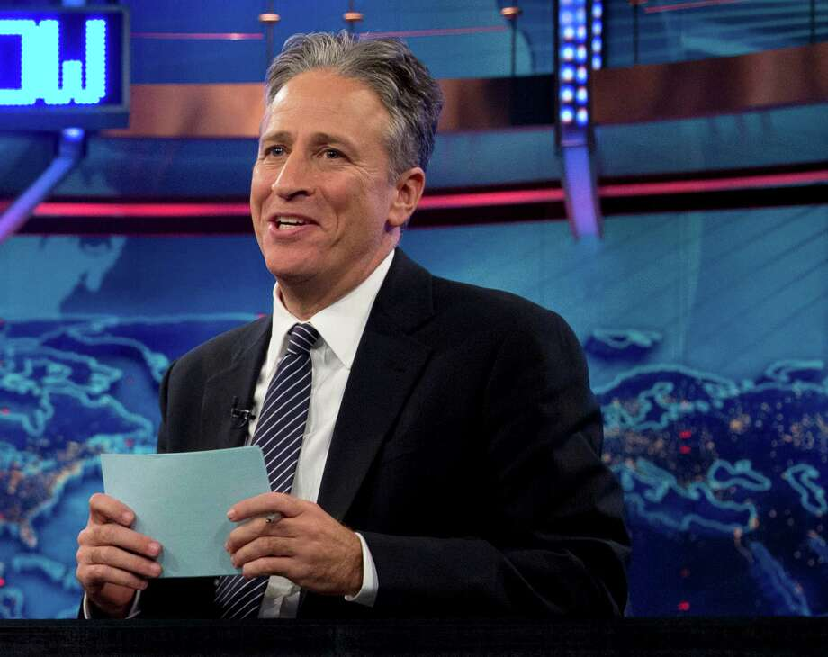 "FILE - In this Oct. 18, 2012 file photo, Jon Stewart speaks during a taping of ""The Daily Show with John Stewart"", in New York. The U.S. Embassy in Cairo has at least temporarily shut down its Twitter feed following an unusual diplomatic incident involving ""The Daily Show"" host Jon Stewart and the Egyptian government. (AP Photo/Carolyn Kaster, file) Photo: Carolyn Kaster"