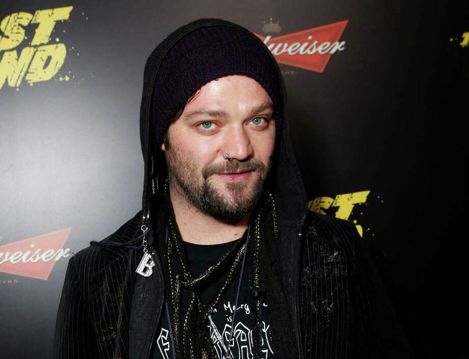 "FILE - This Jan. 14, 2013 file photo shows Bam Margera at the LA premiere of ""The Last Stand"" at Grauman's Chinese Theatre in Los Angeles. Margera, star of ""Jackass,"" put several dozen of his own paintings up for sale Tuesday at a barn on his property in West Chester, outside Philadelphia. The 33-year-old Margera let fans know about the art show in a tweet that day. (Photo by Todd Williamson/Invision/AP, file) Photo: Todd Williamson"