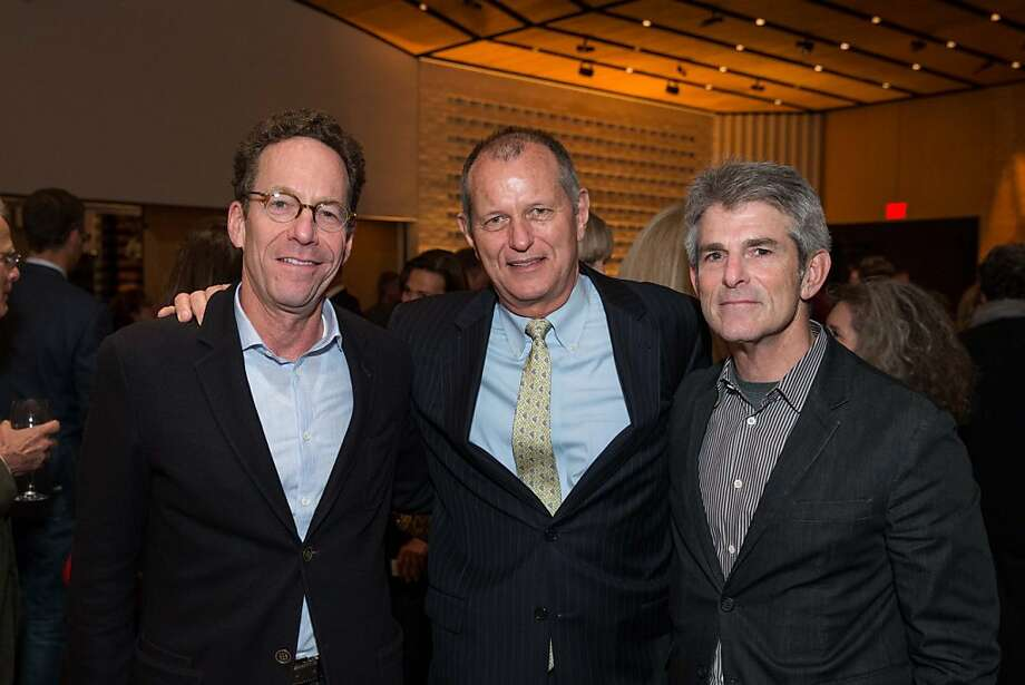 "Alan Mark, Ben Suter and Jeffrey Fraenkel at SFMOMA's presentation of artist Christian Marclay's ""The Clock"" on April 2, 2013. Photo: Drew Altizer Photography"
