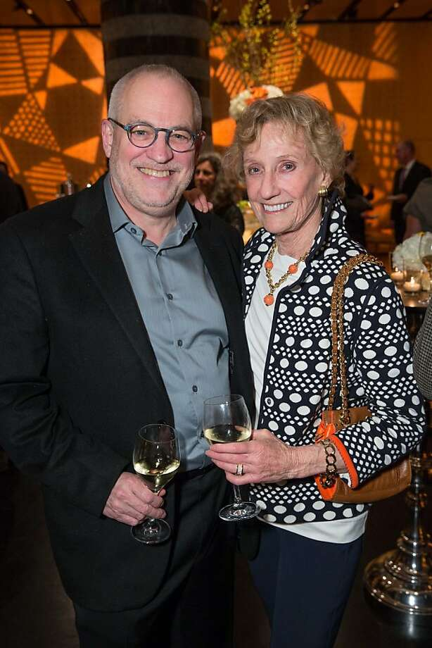 "Gary Garrels and Nancy Bechtle at SFMOMA's presentation of artist Christian Marclay's ""The Clock"" on April 2, 2013. Photo: Drew Altizer Photography"