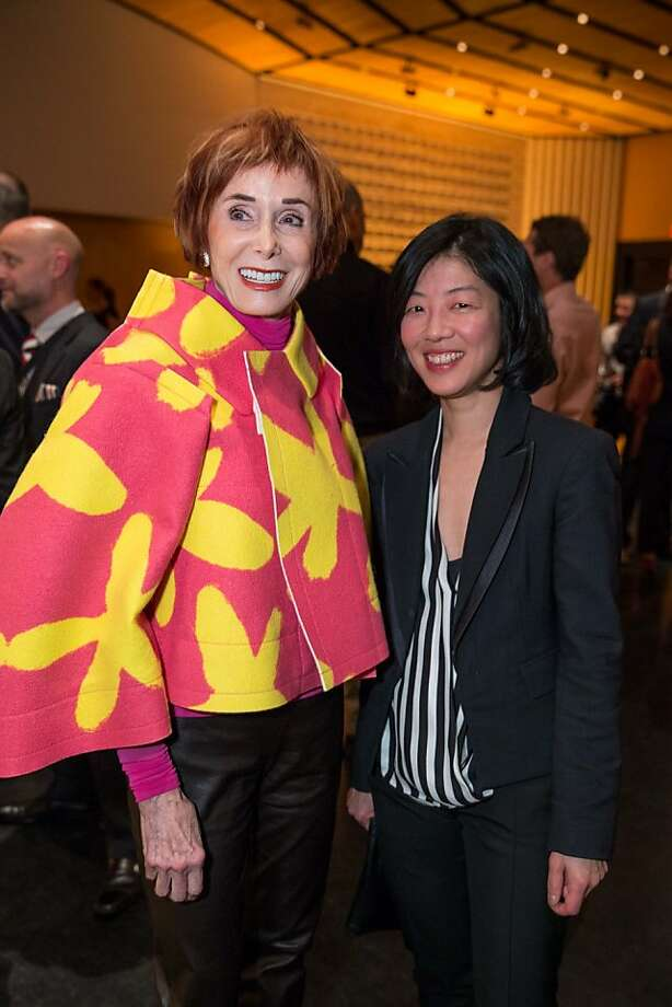 "Norah Stone and Lydia Yee at SFMOMA's presentation of artist Christian Marclay's ""The Clock"" on April 2, 2013. Photo: Drew Altizer Photography"