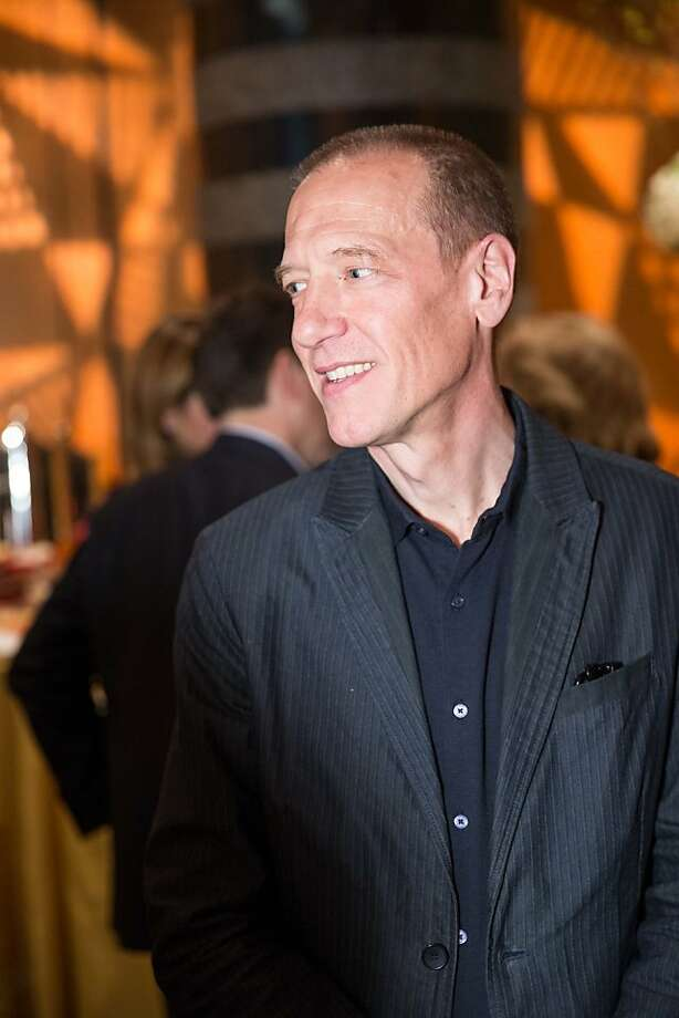 "Artist Christian Marclay during the S.F. premiere of his 24-hour video montage ""The Clock"" presented by SFMOMA on April 2, 2013. Photo: Drew Altizer Photography"