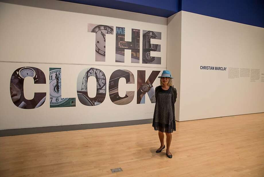"Mimi Haas at SFMOMA's presentation of artist Christian Marclay's ""The Clock"" on April 2, 2013. Photo: Drew Altizer Photography"