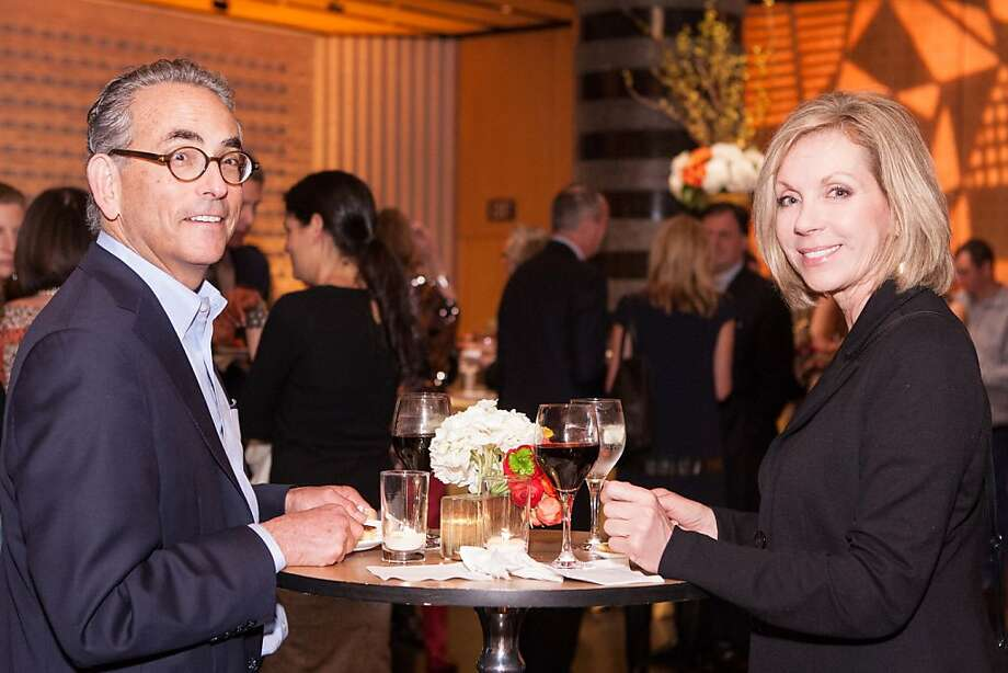 "Paul Friedman and Diane Manley at SFMOMA's presentation of artist Christian Marclay's ""The Clock"" on April 2, 2013. Photo: Drew Altizer Photography"