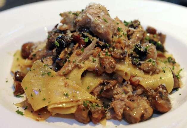 Rabbit Ragu with fazzoletti pasta with braised rabbit , wild roasted ...