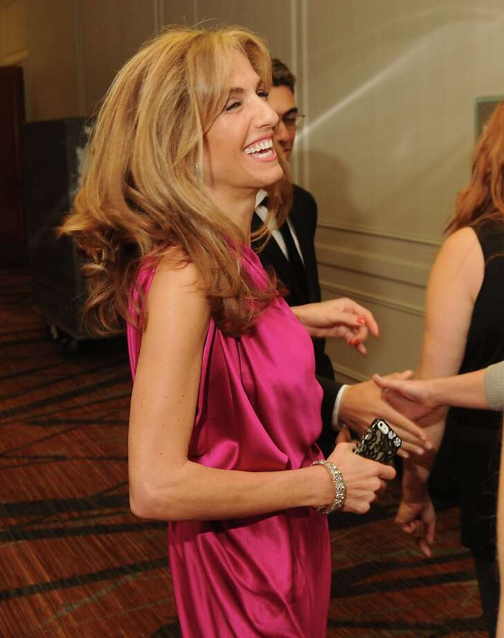 Honoree Sima Ladjevardian laughs backstage at the annual Houston Chronicle's Best Dressed Luncheon at the Westin Galleria Hotel Tuesday April 3, 2013.(Dave Rossman photo) Photo: Dave Rossman, For The Houston Chronicle / © 2013 Dave Rossman