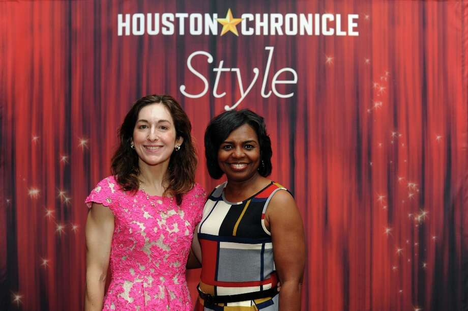 Kristina Tunak and Deon Dillard (left to right) pose at the Houston Chronicle's 31st annual Best Dressed luncheon, at the Westin Galleria Hotel, Houston, Texas on the 3rd April 2013. Photo: Spike Johnson, For The Chronicle / Spike Johnson