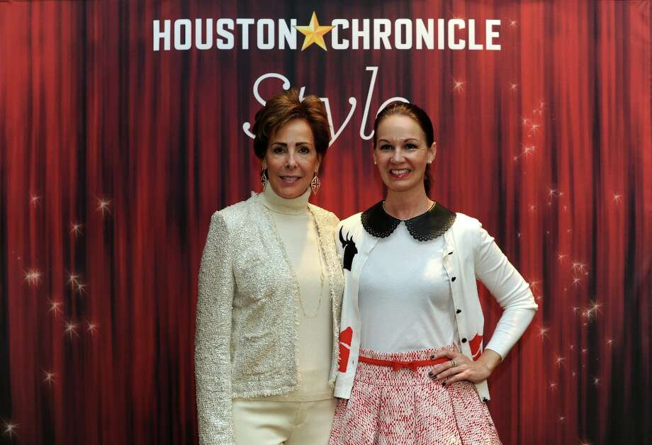 Liz Decker and Beth Mvecke (left to right) pose at the Houston Chronicle's 31st annual Best Dressed luncheon, at the Westin Galleria Hotel, Houston, Texas on the 3rd April 2013. Photo: Spike Johnson, For The Chronicle / Spike Johnson