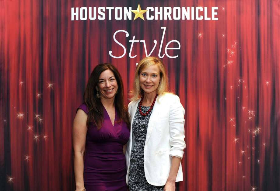 Julie Krampitz and Kairy Barkley (left to right) pose at the Houston Chronicle's 31st annual Best Dressed luncheon, at the Westin Galleria Hotel, Houston, Texas on the 3rd April 2013. Photo: Spike Johnson, For The Chronicle / Spike Johnson