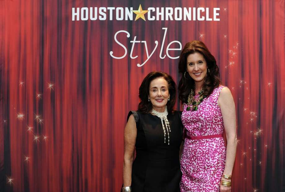 Estela Cockrell and Laurie Morian (left to right) pose at the Houston Chronicle's 31st annual Best Dressed luncheon, at the Westin Galleria Hotel, Houston, Texas on the 3rd April 2013. Photo: Spike Johnson, For The Chronicle / Spike Johnson