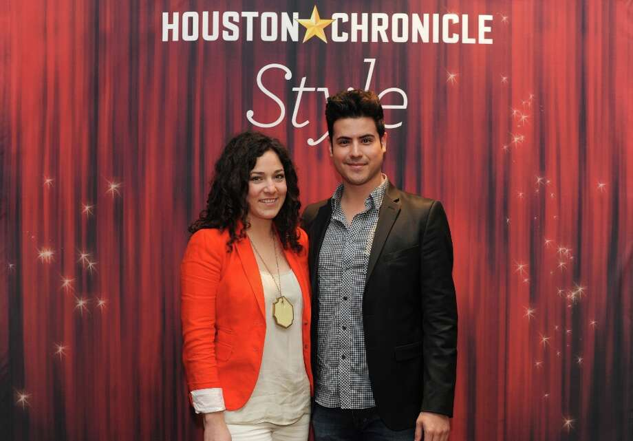 Christina Hernandez and Andrew Carlin (left to right) pose at the Houston Chronicle's 31st annual Best Dressed luncheon, at the Westin Galleria Hotel, Houston, Texas on the 3rd April 2013. Photo: Spike Johnson, For The Chronicle / Spike Johnson