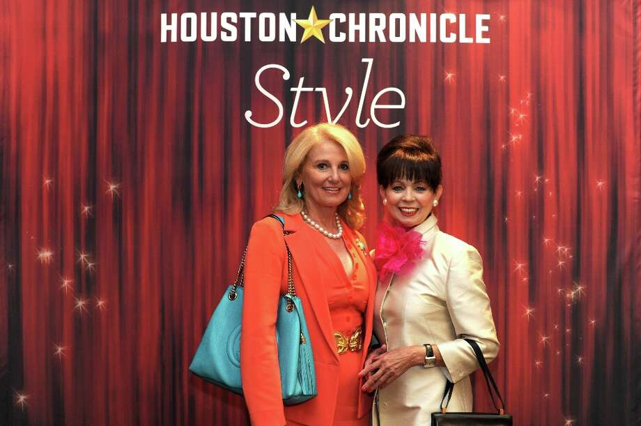 Denise Monteleone and Danielle Ellis (left to right) pose at the Houston Chronicle's 31st annual Best Dressed luncheon, at the Westin Galleria Hotel, Houston, Texas on the 3rd April 2013. Photo: Spike Johnson, For The Chronicle / Spike Johnson
