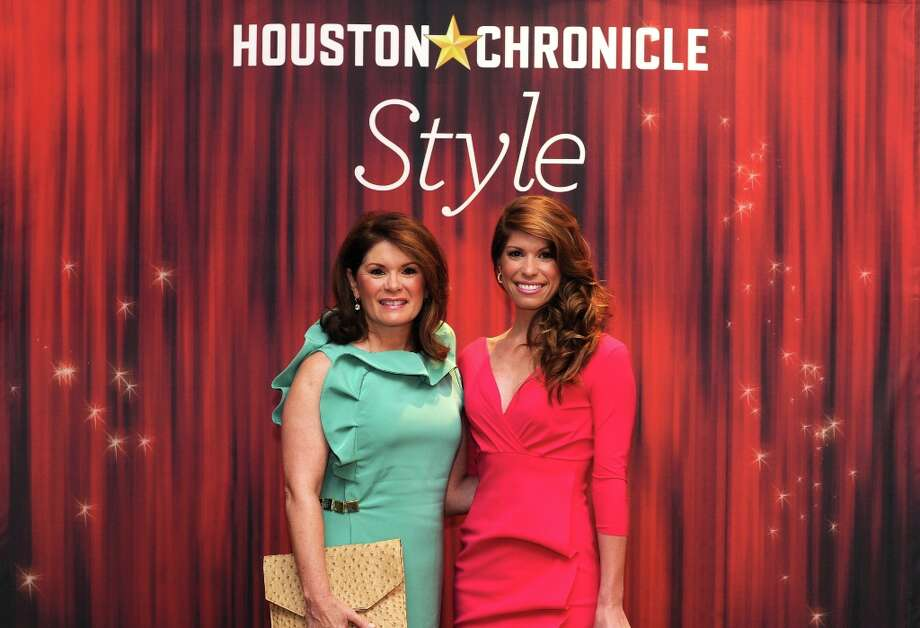 Christine Napier and Stephanie Moody (left to right) pose at the Houston Chronicle's 31st annual Best Dressed luncheon, at the Westin Galleria Hotel, Houston, Texas on the 3rd April 2013. Photo: Spike Johnson, For The Chronicle / Spike Johnson