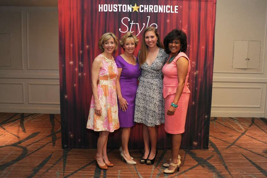 Mary Beth Barber, Lou Ann Kane, Mary Beth Schatzman and Marlene Jessurun (left to right) pose at the Houston Chronicle's 31st annual Best Dressed luncheon, at the Westin Galleria Hotel, Houston, Texas on the 3rd April 2013. Photo: Spike Johnson, For The Chronicle / Spike Johnson