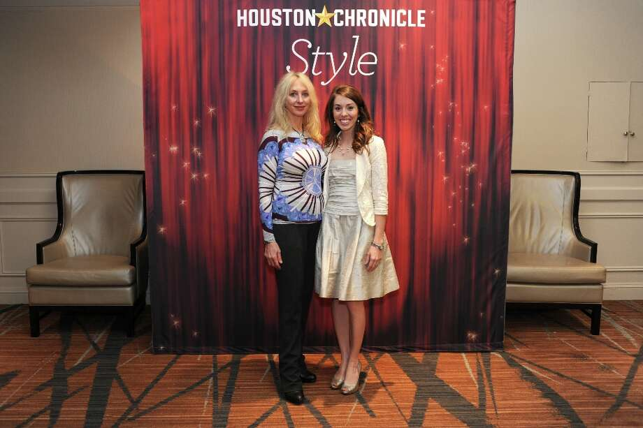 Naomi and Panina (left to right) pose at the Houston Chronicle's 31st annual Best Dressed luncheon, at the Westin Galleria Hotel, Houston, Texas on the 3rd April 2013. Photo: Spike Johnson, For The Chronicle / Spike Johnson