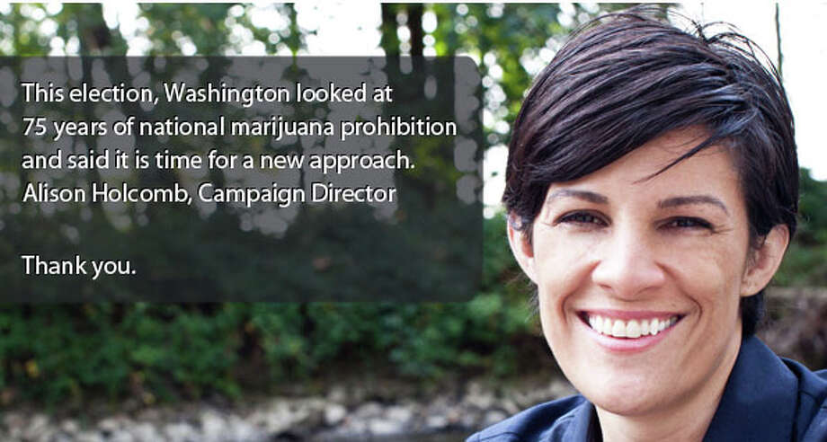 Clearly that momentum was one of the forces that lifted both Initiative 502 here and Amendment 64 in Colorado onto the winner's podium in the 2012 elections.Pictured is Alison Holcomb, Campaign Director for New Approach Washington and lead architect of I-502