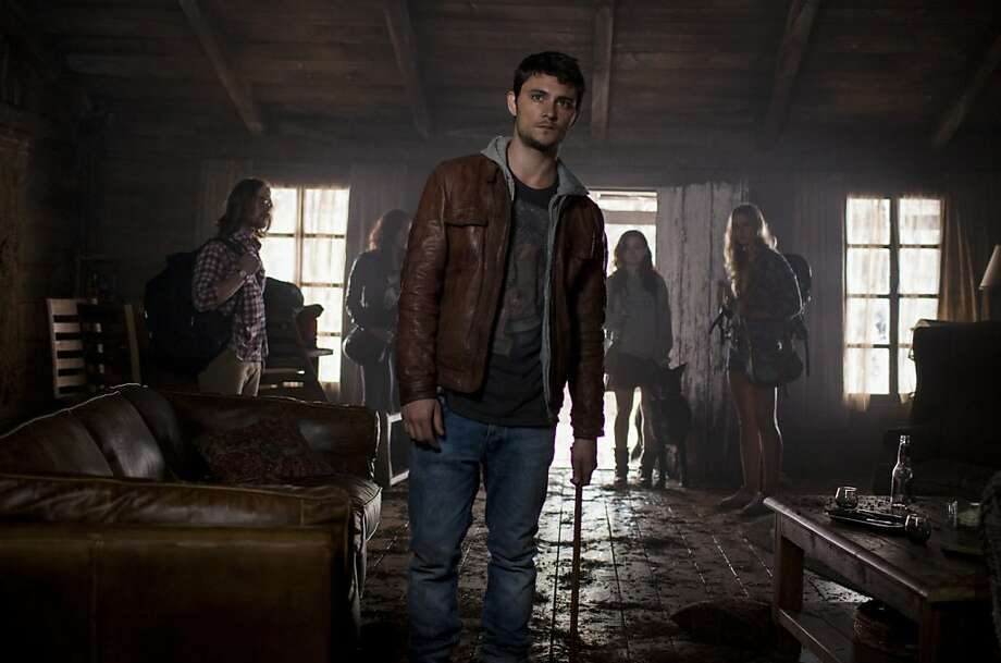 "Lou Taylor Pucci (left), Jessica Lucas, Shiloh Fernandez, Jane Levy and Elizabeth Blackmore are among the stars of ""Evil Dead."" Photo: Kirsty Griffin, TriStar"