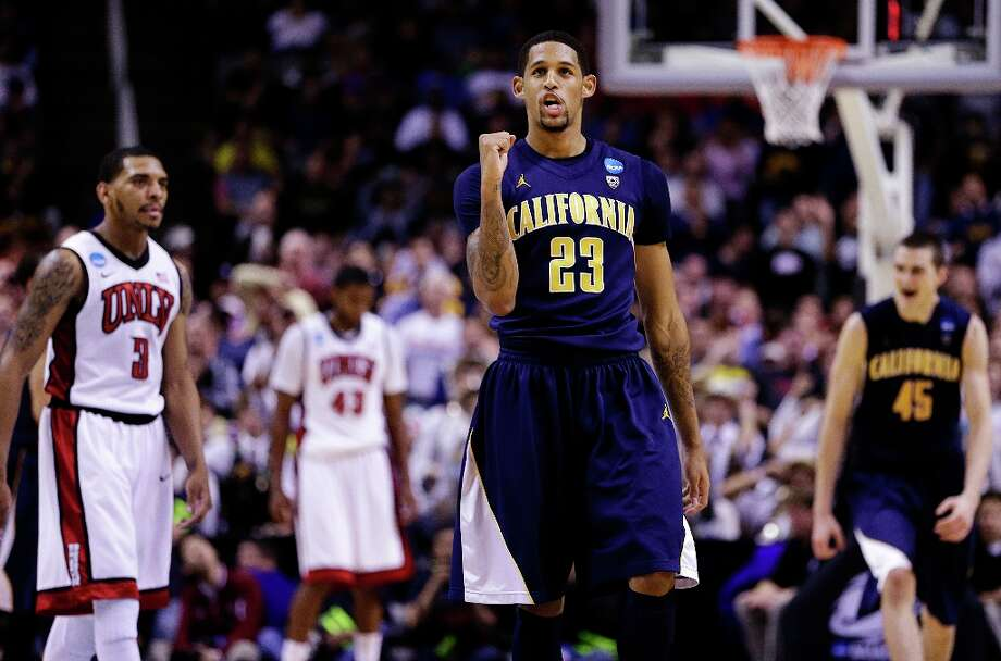 California guard Allen Crabbe (23) celebrates during the second half of a second-round game in the NCAA college basketball tournament against UNLV in San Jose, Calif., Thursday, March 21, 2013. California won 64-61. Photo: Ben Margot, Associated Press / AP