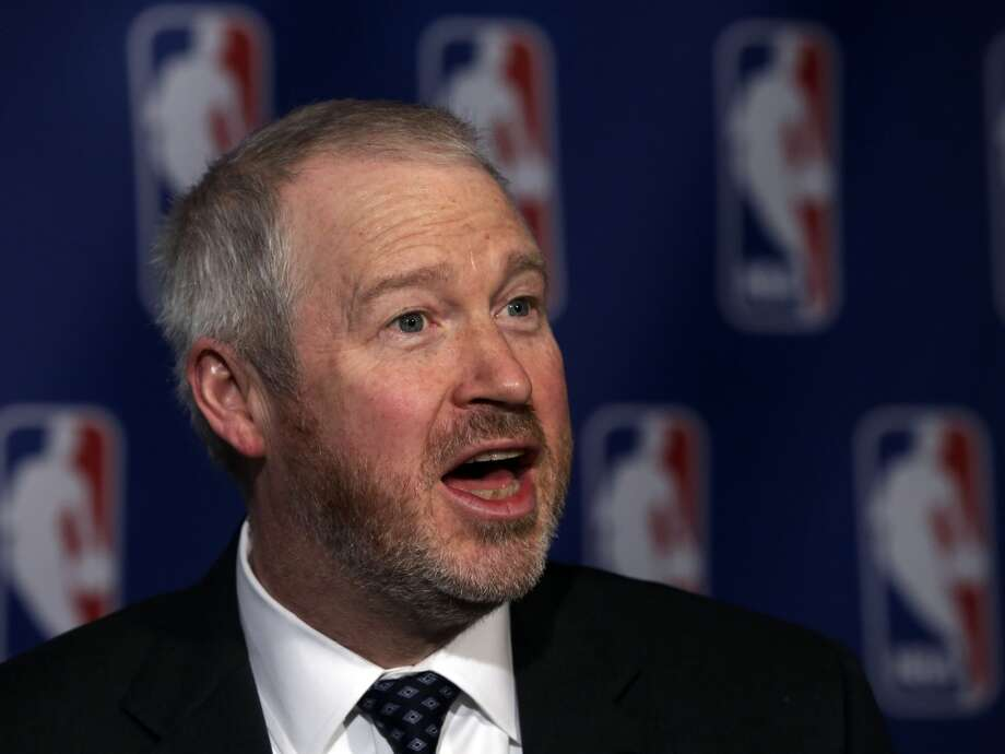 Seattle Mayor Michael McGinn is interviewed after his meeting with the NBA regarding the possible relocation of the Sacramento Kings basketball team to Seattle, in New York, Wednesday, April 3, 2013. Hedge fund manager Chris Hansen and Microsoft Chief Executive Steve Ballmer have agreed to buy a majority stake in the Kings from the Maloof family for $341 million, but the deal needs league approval.