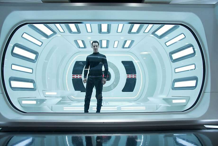 """Benedict Cumberbatch in """"Star Trek Into Darkness,"""" which is among the aspiring summer hits showing footage at CinemaCon. Photo: Paramount Pictures"""