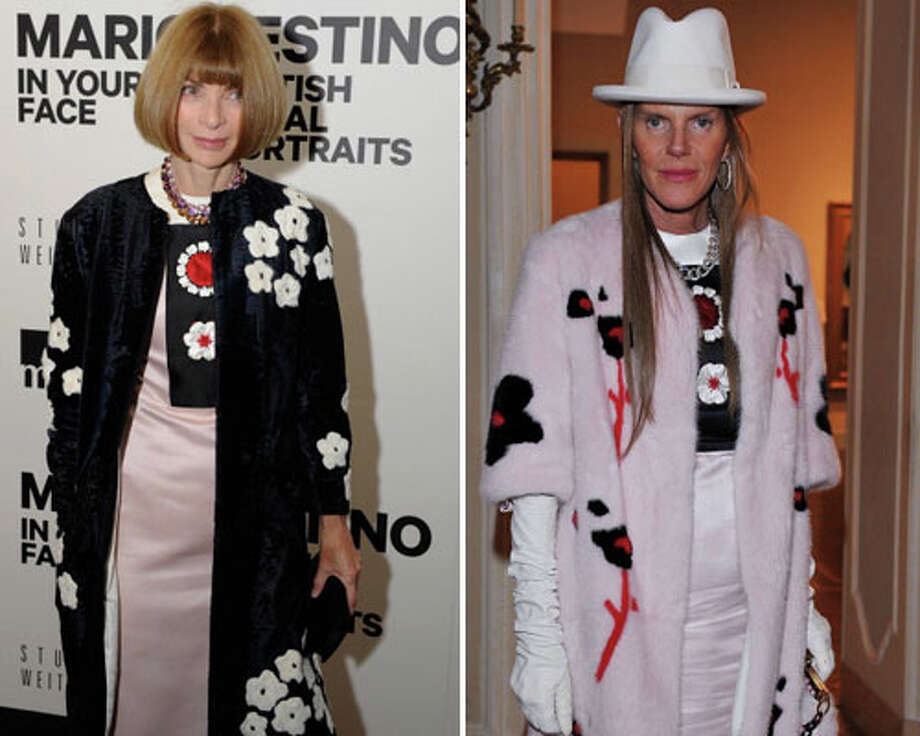 Vogue editor-in-chief Anne Wintour and editor-at-large and creative consultant for Vogue Japan Anna Dello Russo  Well this is embarrassing.