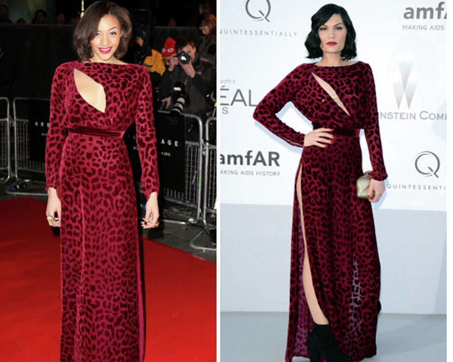 TV presenter Amal Fashanu and singer Jessie J   Jessie J\'s attitude helps pull this dress off. Plus, Fashanu ended up with a nip slip while wearing this.