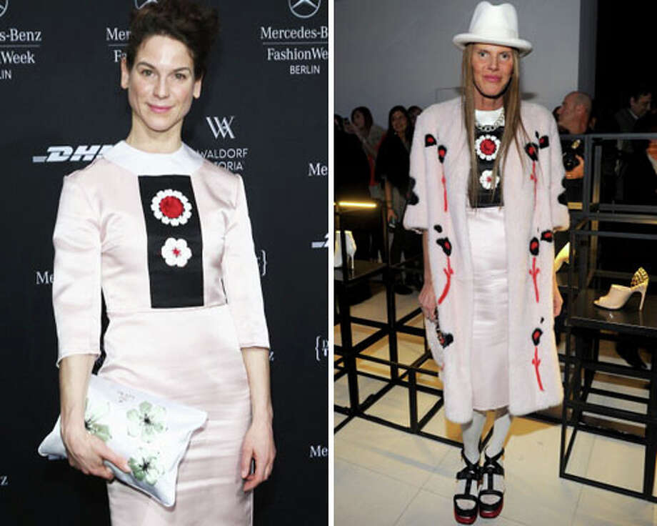 German actress Bibiana Beglau and Anna Dello Russo  This dress again!?! It\'s like a bad game of who wore it worse.