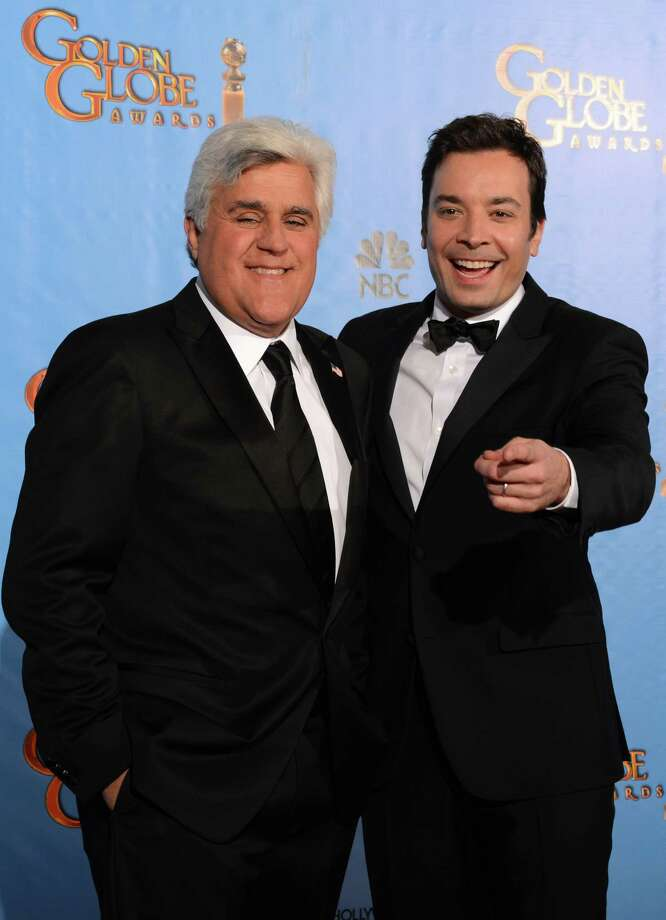 "Producers hope Jimmy Fallon, right, will bring younger viewers to ""The Tonight Show"" when he replaces Jay Leno as host. Photo: ROBYN BECK, Staff / AFP ImageForum"