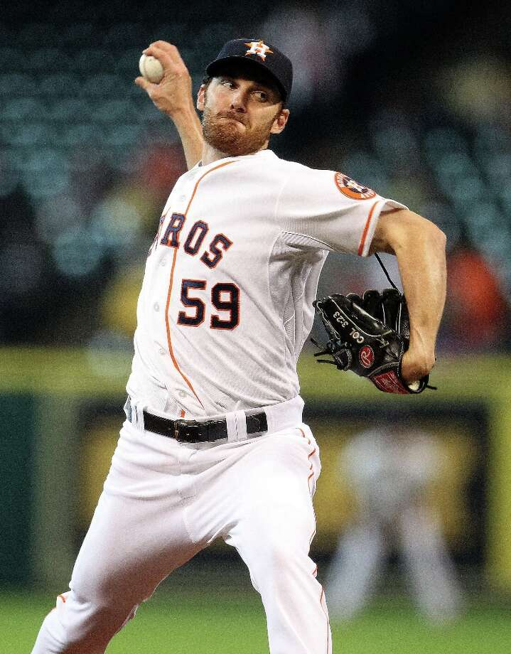 April 3: Rangers 4, Astros 0Astros starting pitcher Philip Humber works during the first inning. Photo: Karen Warren , Chronicle / © 2013 Houston Chronicle