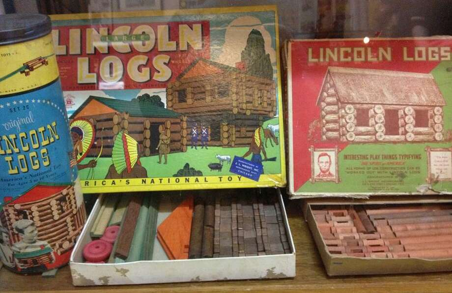 The museum also houses small exhibits featuring beloved childhood toys, such as these original Lincoln Log toys.