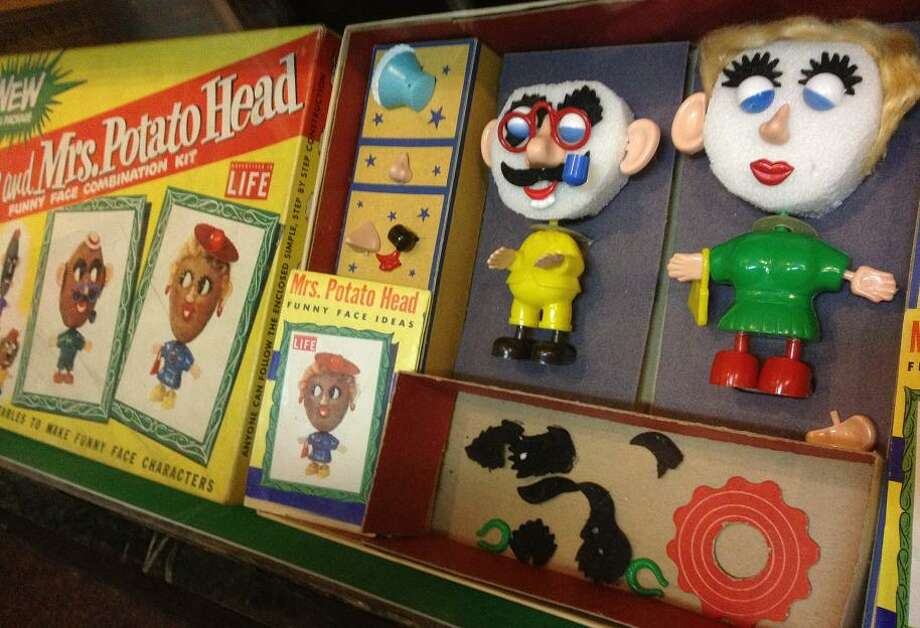 The Mr. and Mrs. Potato Heads on display might look a little strange, but only because they\'re awaiting, well, their heads. With the original toys, you have to supply your own potatoes.