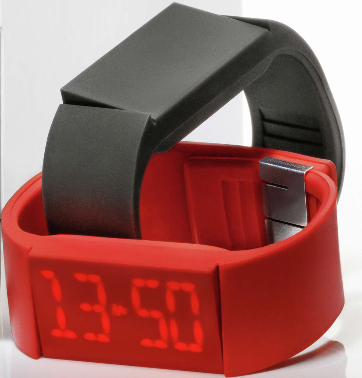 Mutewatch, a Swedish watch company, is expanding its availability through a partnership with Brookstone stores this month, including the Houston Galleria and Memorial City Mall locations. The slim touchscreen watch retails for $259 and comes in red, charcoal gray and black.