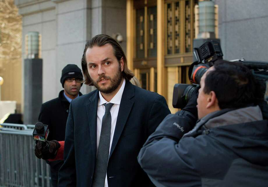 Ex-Goldman Sachs trader Matthew Marshall Taylor leaves federal court in New York on Wednesday. Taylor was freed on $750,000 bond and could face up to 20 years in prison at a July 19 sentencing. Photo: Scott Eells / © 2013 Bloomberg Finance LP