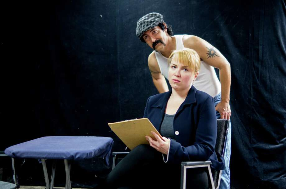 "Derek Berlin and Christie Beckham appear in ""Frozen."" Photo: Courtesy Overtime Theater"
