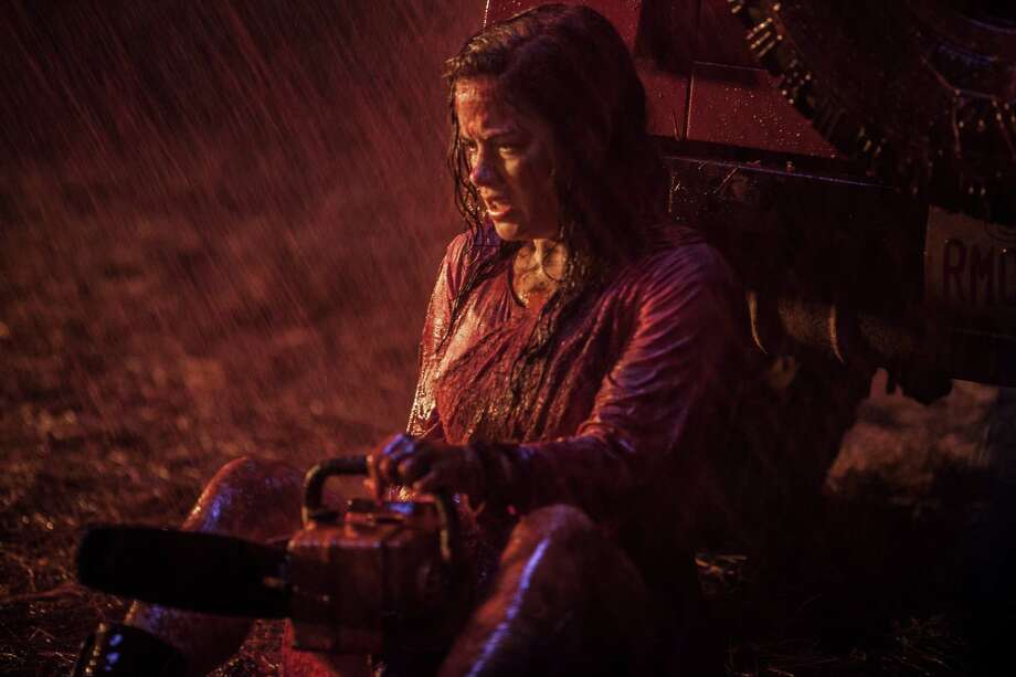 "Jane Levy co-stars in ""Evil Dead,"" a movie about drug withdrawal and a desolate cabin with clueless people who obviously don't know the conventions of horror films. Photo: Sony-TriStar Pictures"
