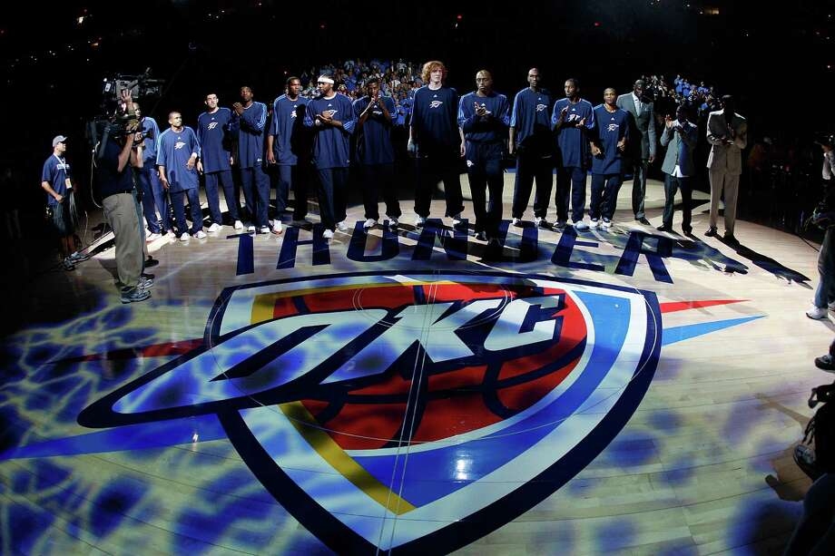 October 2008:Having moved from Seattle, the Thunder debut in Oklahoma City.  Photo: Chris Graythen, Getty Images / 2008 Getty Images