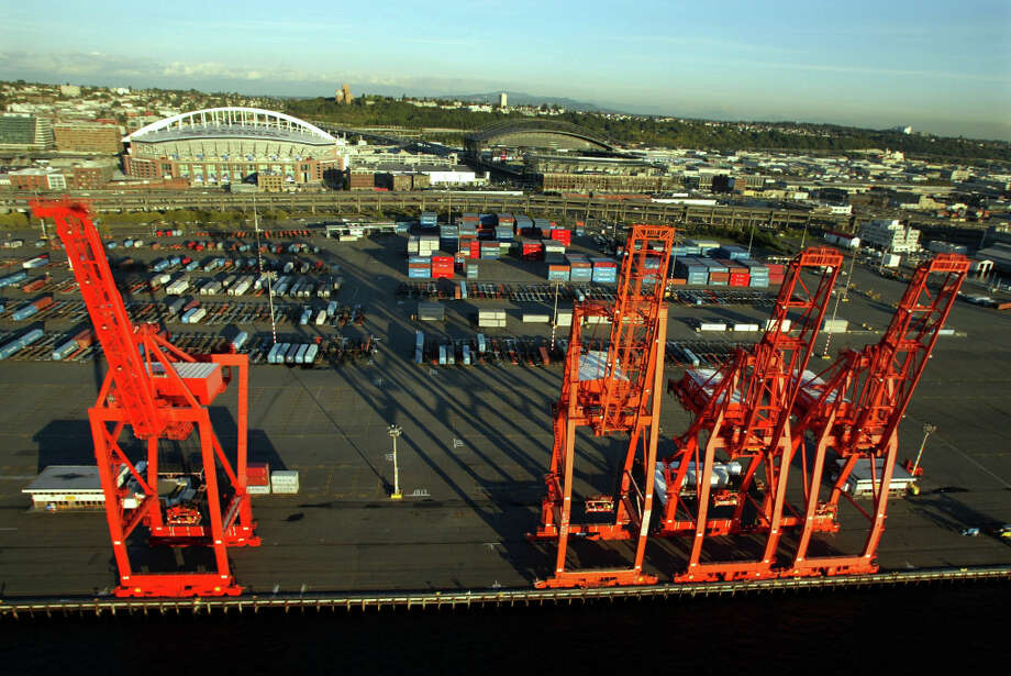 Oct. 18, 2012:A Seattle longshoremen union files a lawsuit against the city and county, saying a state-mandated environmental impact review does not adequately require alternate locations to be considered for a new arena.  Photo: Meryl Schenker, Seattle P-I Archives