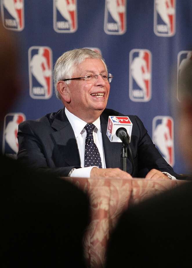 Oct. 25, 2012: After an NBA Board of Governors meeting, Commissioner David Stern says there is no current team in play for relocation to Seattle. ''I don't have any current view on where such a team comes from,'' he said. ''We deal with a lot of cities. Seattle happens to be another great city.''  Photo: Alex Trautwig, Getty Images / 2012 Getty Images
